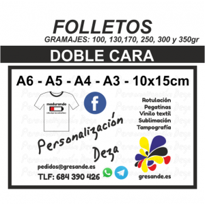 Folleto doble cara