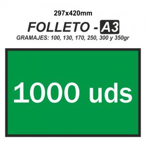 Folleto A3 - 1000 unidades