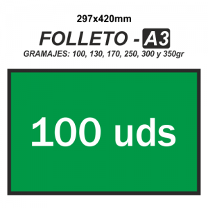 Folleto A3 - 100 unidades