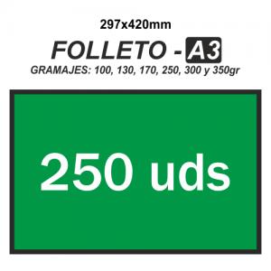 Folleto A3 - 250 unidades