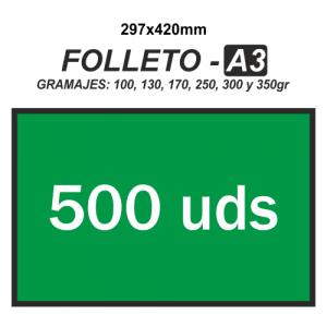 Folleto A3 - 500 unidades