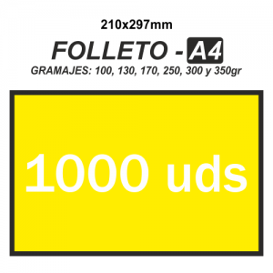 Folleto A4 - 1000 unidades