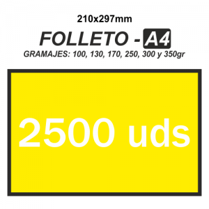 Folleto A4 - 2500 unidades