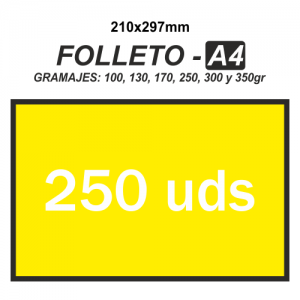Folleto A4 - 250 unidades