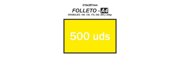 Folleto A4 - 500 unidades