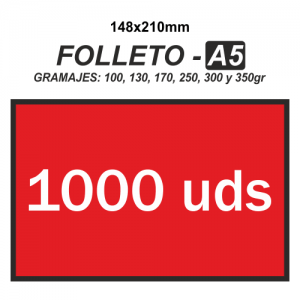 Folleto A5 - 1000 unidades