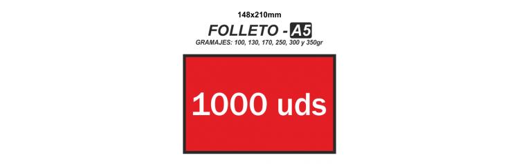 Folleto A5 - 1000 unidades