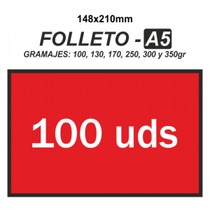 Folleto A5 - 100 unidades