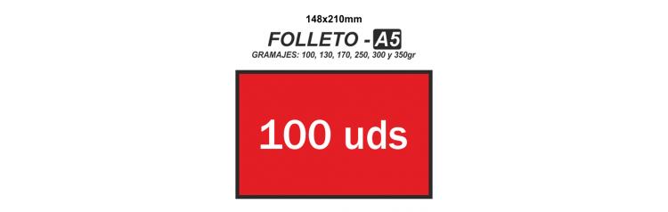 Folleto A5 - 100 unidades
