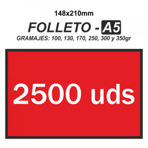 Folleto A5 - 2500 unidades