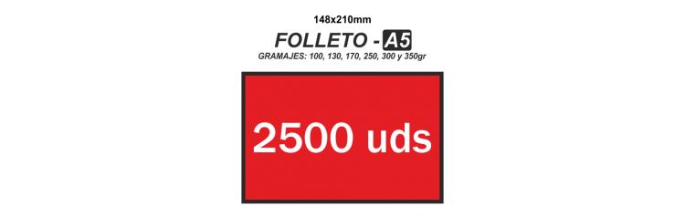 Folleto A5 - 2500 unidades