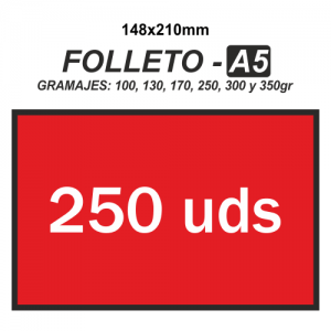 Folleto A5 - 250 unidades