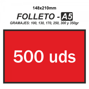 Folleto A5 - 500 unidades
