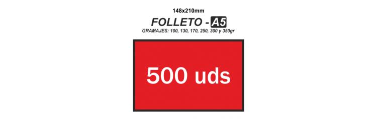 Folleto A5 - 500 unidades