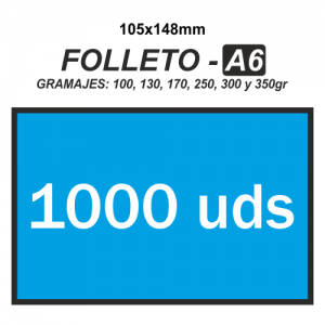 Folleto A6 - 1000 unidades