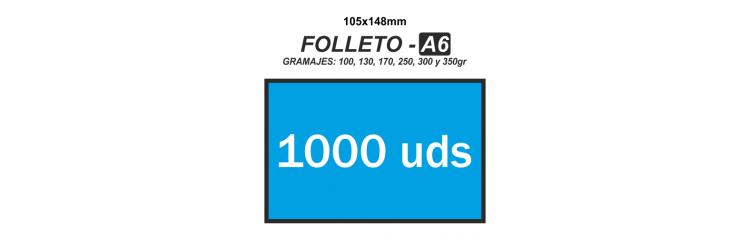 Folleto A6 - 1000 unidades