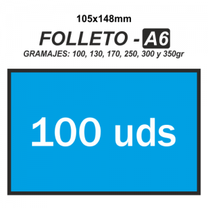 Folleto A6 - 100 unidades