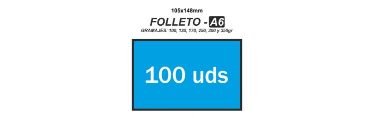 Folleto A6 - 100 unidades