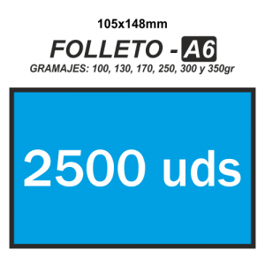 Folleto A6 - 2500 unidades