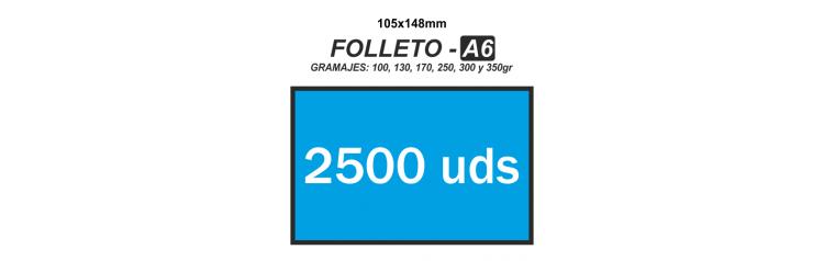 Folleto A6 - 2500 unidades