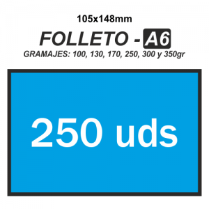 Folleto A6 - 250 unidades