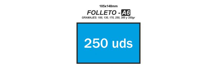 Folleto A6 - 250 unidades