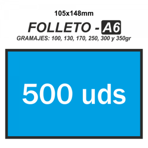 Folleto A6 - 500 unidades
