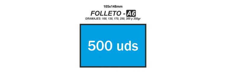 Folleto A6 - 500 unidades