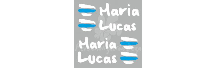 Bandera Galicia con nombres - X4