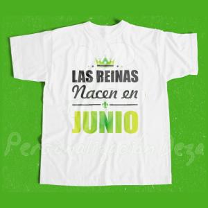 Camiseta Las reinas nacen en JUNIO