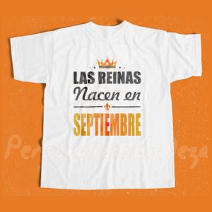 Camiseta Las reinas nacen en SEPTIEMBRE