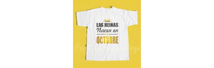Camiseta Las reinas nacen en OCTUBRE