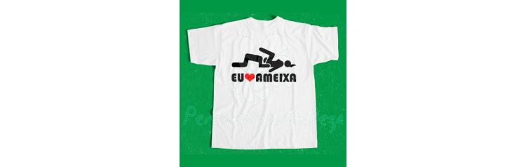 Camiseta Eu Love Ameixa